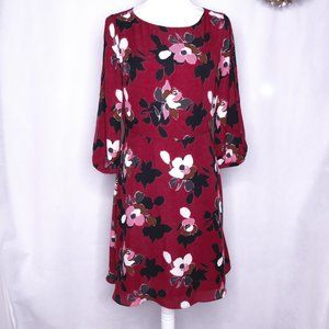 Banana Republic Wine dress with floral print